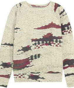 Isabel Marant Etoile Hana Abstract  Sweatshirt